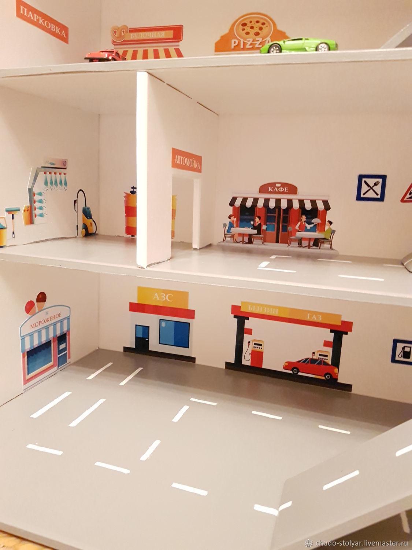 Полка парковка для моделей машинок