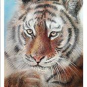 Картины ручной работы. Ярмарка Мастеров - ручная работа Тигр. Handmade.