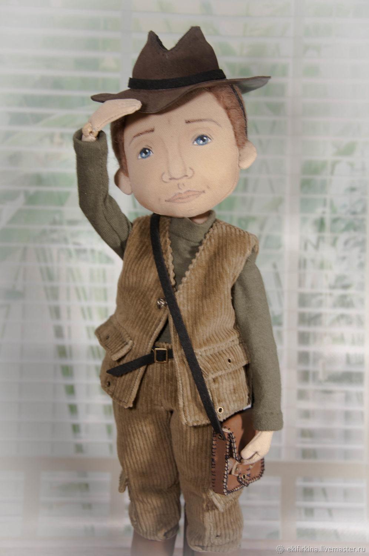 Hunter or Indiana Jones, Round Head Doll, St. Petersburg,  Фото №1