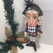 Куклы и игрушки ручной работы. Ярмарка Мастеров - ручная работа Щелкунчик игрушка на ёлку. Handmade.