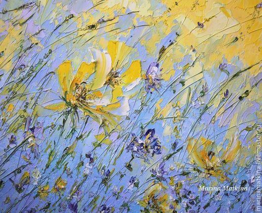 Цветы мастихином картины