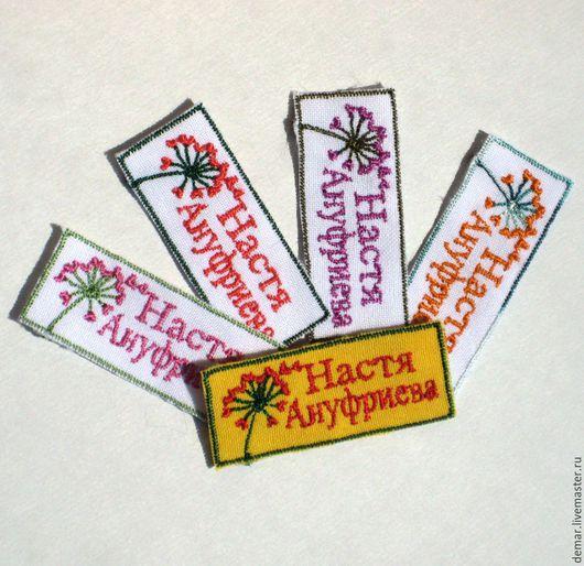 """Упаковка ручной работы. Ярмарка Мастеров - ручная работа. Купить Нашивка  """"Одуванчик"""". Handmade. Нашивка, логотип, бирка, вышитая бирочка"""