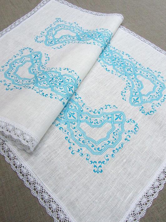 Текстиль, ковры ручной работы. Ярмарка Мастеров - ручная работа. Купить Дорожка льняная с вышивкой.  55 х 85 см.. Handmade.