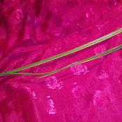 Ткани ручной работы. Ярмарка Мастеров - ручная работа Ткань шелк набивной,карминовый. Handmade.