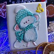 Пряники ручной работы. Ярмарка Мастеров - ручная работа Пряники: Мышка новогодняя. Handmade.