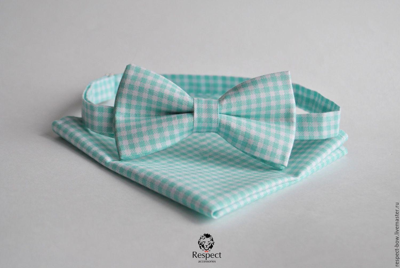 Tie mint plaid pocket square Pasha mint Provence, Ties, Moscow,  Фото №1