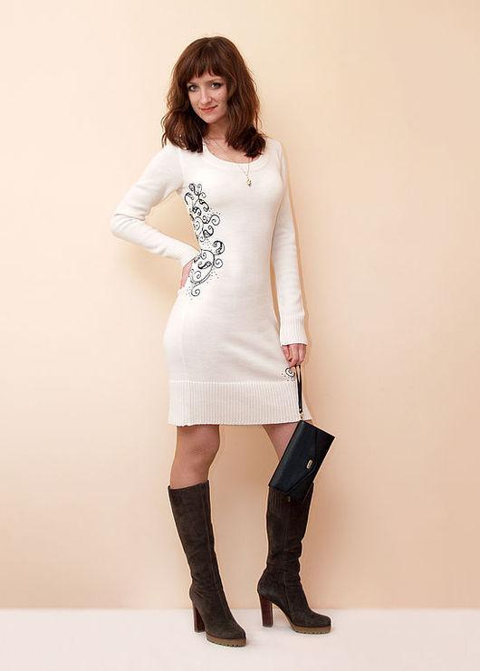 Платья ручной работы. Ярмарка Мастеров - ручная работа. Купить Платье вязаное 4382. Handmade. Платье, вязаное платье