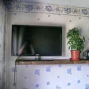Для дома и интерьера handmade. Livemaster - original item Shelf under the TV. Handmade.