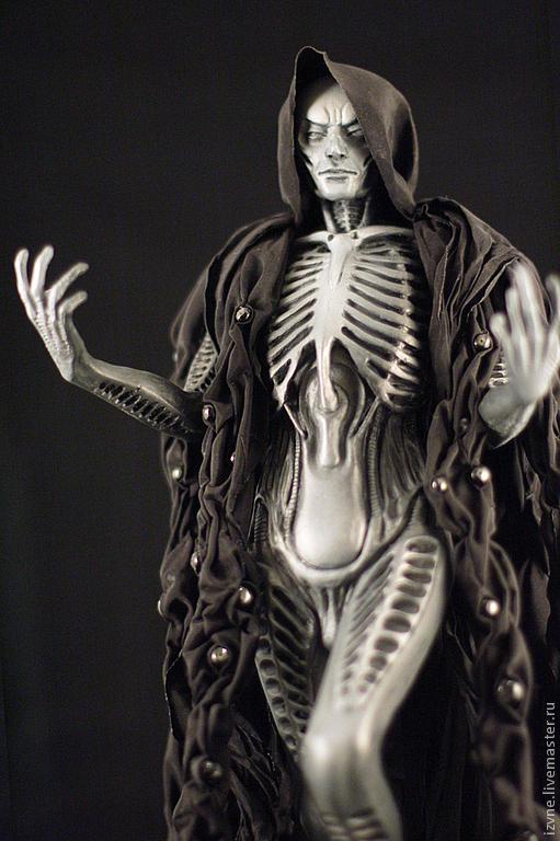 """Коллекционные куклы ручной работы. Ярмарка Мастеров - ручная работа. Купить """"Черный человек"""", авторская кукла статик. Handmade. Черный"""