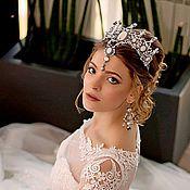 """Свадебный салон ручной работы. Ярмарка Мастеров - ручная работа Корона, тиара """" Амира"""". Handmade."""