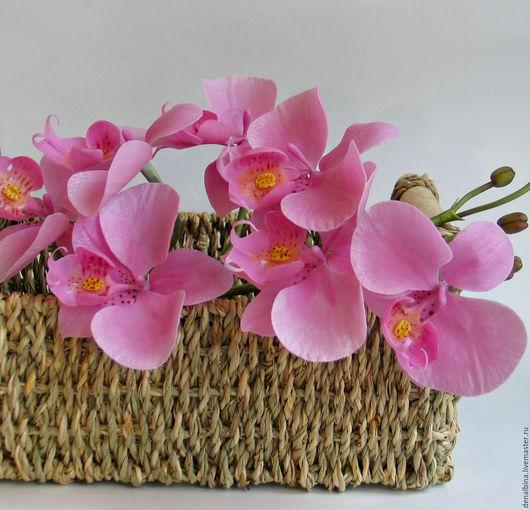 Интерьерные композиции ручной работы. Ярмарка Мастеров - ручная работа. Купить орхидея фаленопсис. Handmade. Розовый, цветы ручной работы