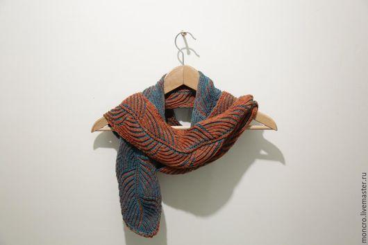 Шарфы и шарфики ручной работы. Ярмарка Мастеров - ручная работа. Купить Шарф Brioche. Handmade. Комбинированный, оранжевый шарф
