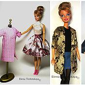 Куклы и игрушки ручной работы. Ярмарка Мастеров - ручная работа Пальто во французском стиле    для кукол Барби и  Monster High. Handmade.