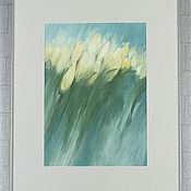 Картины и панно ручной работы. Ярмарка Мастеров - ручная работа Желтые тюльпаны. Handmade.