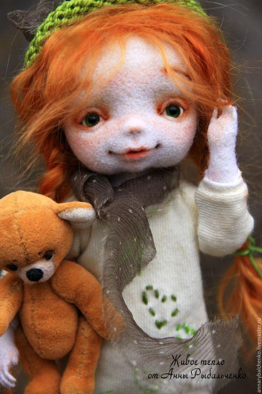 Коллекционные куклы ручной работы. Ярмарка Мастеров - ручная работа. Купить Аришка отправляется на поиски весны. Handmade. Рыжий, девочка