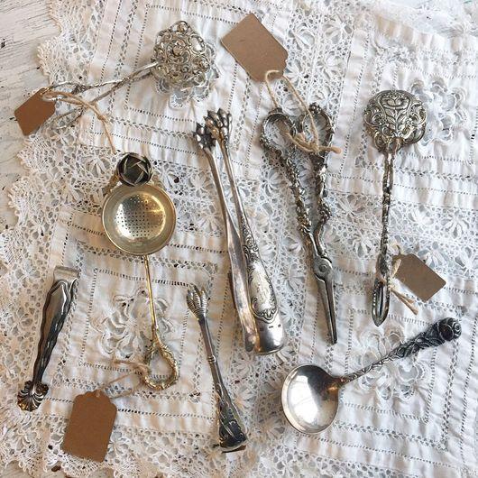 Винтажная посуда. Ярмарка Мастеров - ручная работа. Купить Ножницы , лопатка , ложки , сито. Handmade. Германия, ножницы, сервировка стола