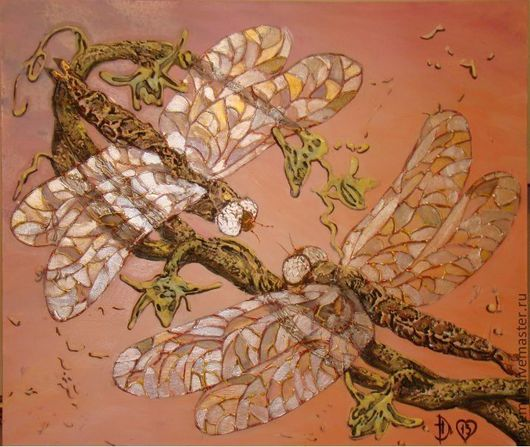 картина маслом Стрекозы