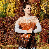 Одежда handmade. Livemaster - original item Yaga vest Ethno wool vest. Handmade.