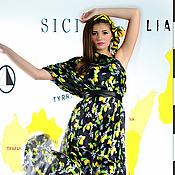 """Одежда ручной работы. Ярмарка Мастеров - ручная работа шелковое платье """"сицилия"""". Handmade."""