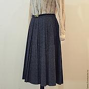 Одежда ручной работы. Ярмарка Мастеров - ручная работа Твидовая юбка в складку. Handmade.