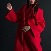 Одежда handmade. Livemaster - original item Spring cashmere coat, Red coat-CT0417CA. Handmade.