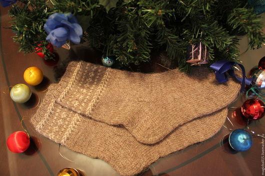 Носки, Чулки ручной работы. Ярмарка Мастеров - ручная работа. Купить Носки деревенские с орнаментом. Handmade. Носки вязаные