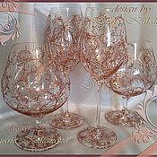 Сувениры и подарки ручной работы. Ярмарка Мастеров - ручная работа Бокалы для коньяка, вина. Handmade.