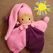 Вальдорфские куклы и звери ручной работы. Ярмарка Мастеров - ручная работа гномик Карамелька. Вальдорфская кукла бабочка. Handmade.