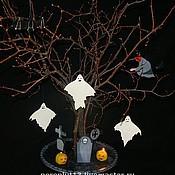 """Подарки к праздникам ручной работы. Ярмарка Мастеров - ручная работа Хэллоуинское Дерево """"Кладбище с привидениями"""". Handmade."""