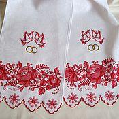 Свадебный салон ручной работы. Ярмарка Мастеров - ручная работа Свадебный рушник с вышивкой в традиционном русском стиле Модель1001. Handmade.