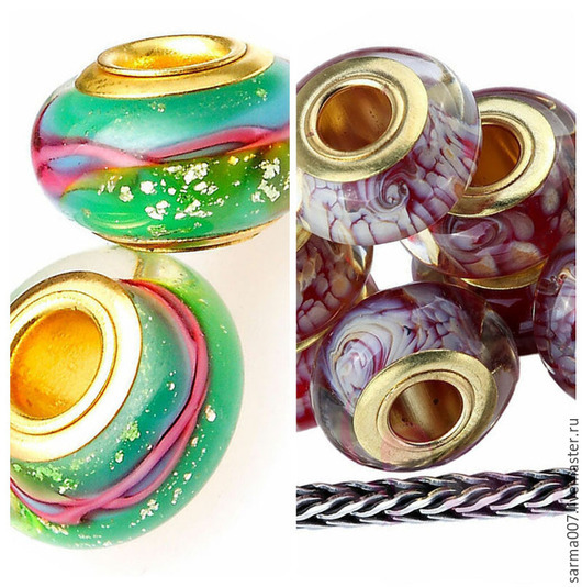 Для украшений ручной работы. Ярмарка Мастеров - ручная работа. Купить 003 Бусина в стиле Пандора ( Pandora style ) 5 штук. Handmade.