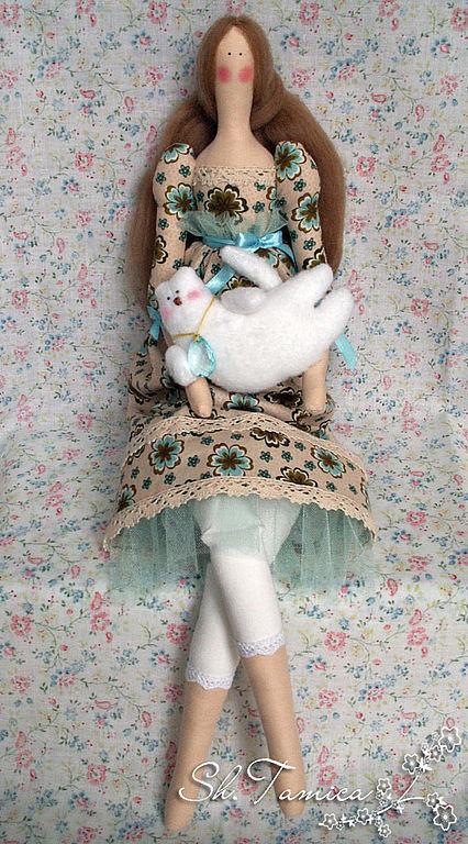 Куклы Тильды ручной работы. Ярмарка Мастеров - ручная работа. Купить Лючия. Handmade. Кукла Тильда, американский хлопок