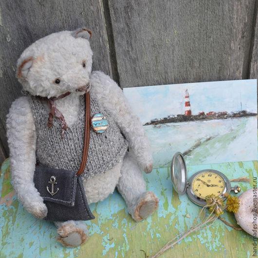 Мишки Тедди ручной работы. Ярмарка Мастеров - ручная работа. Купить мишка тедди... Мишка, влюбленный в море.... Handmade. Серый