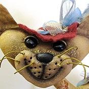 """Куклы и игрушки ручной работы. Ярмарка Мастеров - ручная работа КОШКА """"МАРТА  с зонтиком"""". Handmade."""