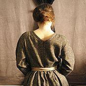 Одежда ручной работы. Ярмарка Мастеров - ручная работа Прогулочное твидовое платье. Handmade.