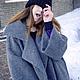 """Верхняя одежда ручной работы. Пальто- кокон """"Street-fashion"""". Look1. Лана КМЕКИЧ de Marlen (lanakmekich). Ярмарка Мастеров."""