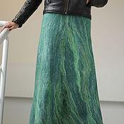 """Одежда ручной работы. Ярмарка Мастеров - ручная работа Юбка валяная """"Зеленый ветер"""". Handmade."""