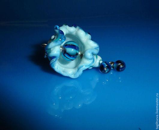 Кулоны, подвески ручной работы. Ярмарка Мастеров - ручная работа. Купить Кулон лэмпворк - Друг морских камушков). Handmade.