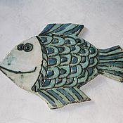 """Для дома и интерьера ручной работы. Ярмарка Мастеров - ручная работа Панно керамическое """"Рыбина"""". Handmade."""