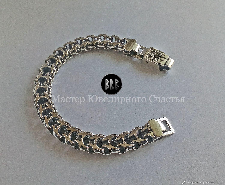 "Bracelet ""Veles"" sterling silver 925, Folk decorations, Penza,  Фото №1"