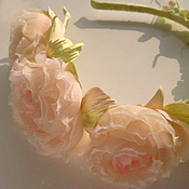 Украшения handmade. Livemaster - original item Silk flowers. Decoration hair band SUMMER WREATH WITH ROSES.. Handmade.