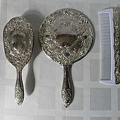 Винтаж ручной работы. Ярмарка Мастеров - ручная работа Винтажный женский туалетный набор Серебро. Handmade.