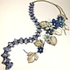 Valley Star Winds. Necklace made of lapis lazuli, flowers made of genuine leather. Jewelry Sets. ms. Decorator. My Livemaster. Фото №4
