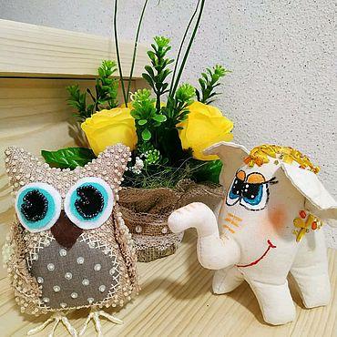 Куклы и игрушки ручной работы. Ярмарка Мастеров - ручная работа Сова ручной работы расшита бисером. Handmade.