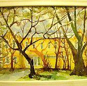 """Картины и панно ручной работы. Ярмарка Мастеров - ручная работа акварель """" Школа"""". Handmade."""