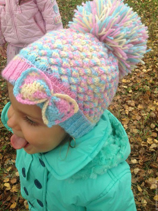 Шапки и шарфы ручной работы. Ярмарка Мастеров - ручная работа. Купить Шапочка для девочки 3-5 лет. Handmade. Комбинированный