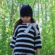 Работы для детей, ручной работы. Ярмарка Мастеров - ручная работа Пуловер-оверсайз вязаный для девочки Journey. Handmade.