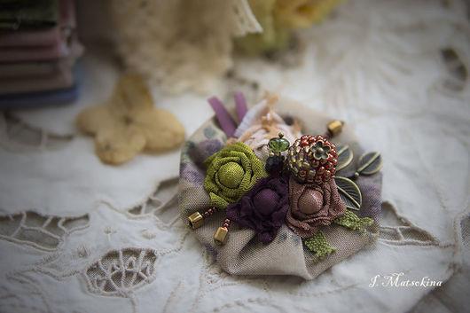 Броши ручной работы. Ярмарка Мастеров - ручная работа. Купить Брошь Цветы, цветы. Handmade. Бежевый, брошь цветок