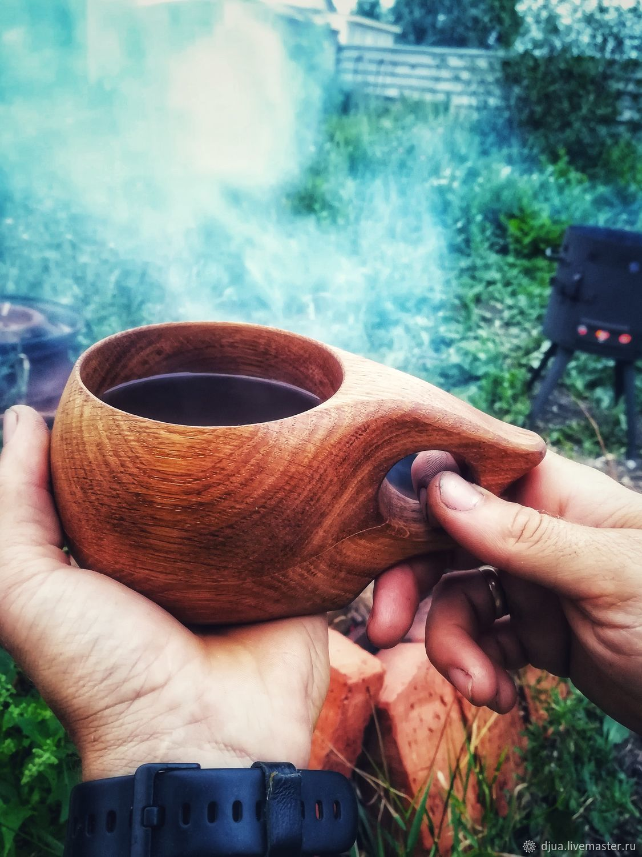 Кружки и чашки ручной работы. Ярмарка Мастеров - ручная работа. Купить Кукса из дуба, 280 мл, финская кружка из дерева. Handmade.