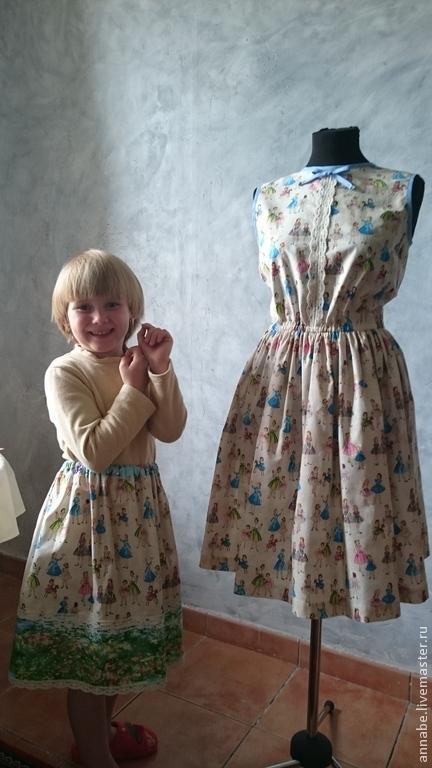 Платья ручной работы. Ярмарка Мастеров - ручная работа. Купить Комплект Maman et moi Хлопок 100%. Handmade.
